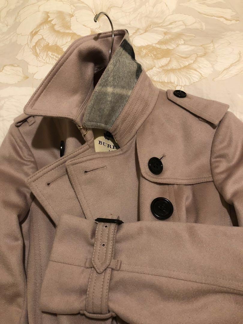 Trench coat Sandringham 100% cashmere, mid-length, sz 6UK (8au), colour: Pale orchid. Bought 2000usd in New York.