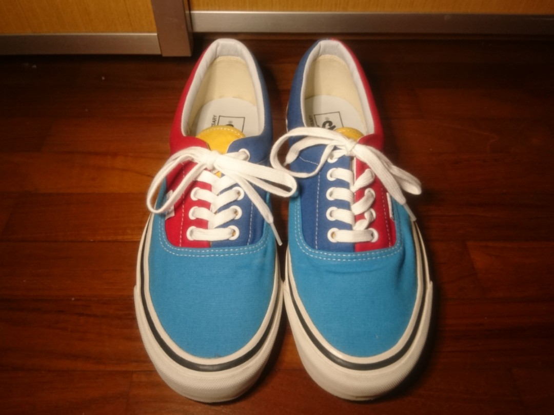 f0efa1209ebd32 Vans Shoes 50th Anniversary Blue Red Yellow Black