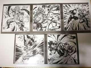 龍珠 色紙 一番賞 超戰士 H賞 5種