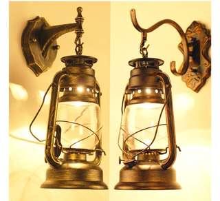 🚚 LED Vintage kerosene wall lamp balcony waterproof