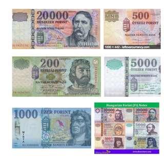 WTS: spare Hungarian Forint and Czech Koruna