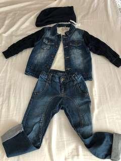 Zara winter coat + jeans