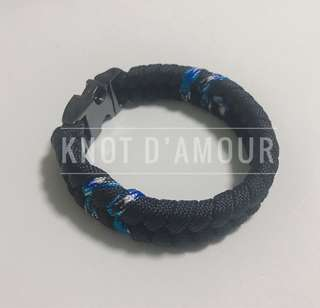 (Perfect Gift) Paracord Bracelet 3rd Edition [Ocean Camo] by Knot d'Amour