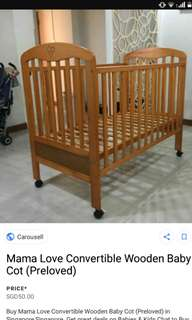 Baby cot strong Wooden