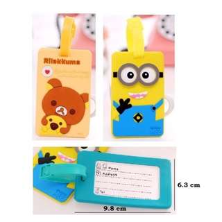 Suitcase / Bag / Luggage Tag - Rilakkuma and Minion
