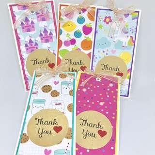 🚚 Handmade thank you gift tag