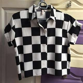 Penshoppe Checkered Top S/M