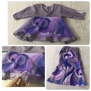 Baju Kurung Tutu Peplum/Doll Kurung Baby