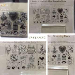 Clear Stamps with stamping block