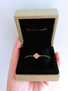 保證正貨 割愛名牌 Van Cleef & Arpels VCA Bracelet Rose Gold 玫瑰金手鏈