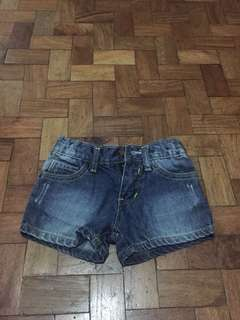 Zap Dark Denim Shorts
