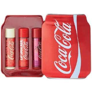 🚚 Coca Cola Lip Smacker 3pc Coke Tin Can