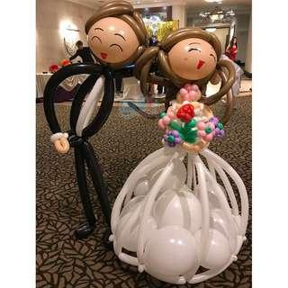Wedding Balloon Couple - Life Size