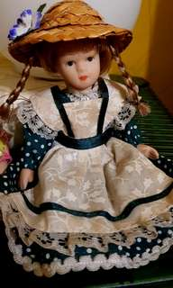 Vintage antique ceramic dolls