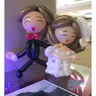 Wedding Balloon Centrepiece (50cm)