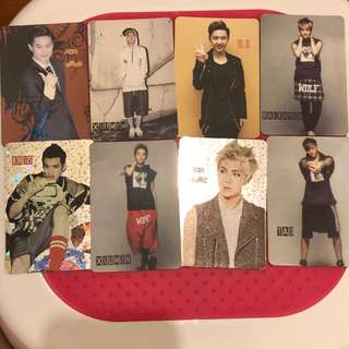 Exo Yescard 吳亦凡suho tao d.o.