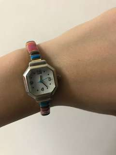 Colourful vintage watch