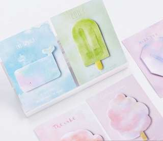 Flavour of Sweetness Watercolour Pastel Sticky Note