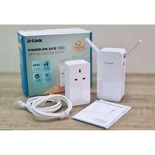 [MINT] D-Link Powerline AV2-1000 WI-FI AC-1200 Starter Kit