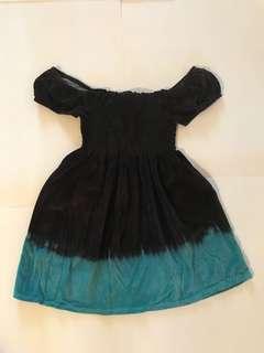 Sexy off shoulder brown/blue dress size S/M