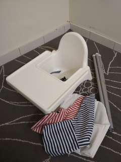 IKEA Antilop Highchair with Inflatable Support Cushion and Cover