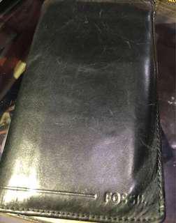 Fossil black wallet. Original.