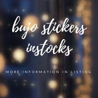 Instock Bujo Packet Stickers