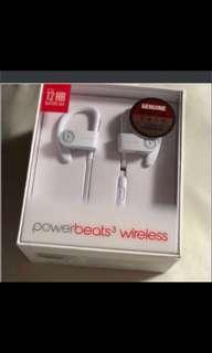 power beats 3 wireless earphone ( BRAND NEW ) ( UNSEALED BOX )