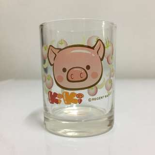 Cartoon Pig Glass