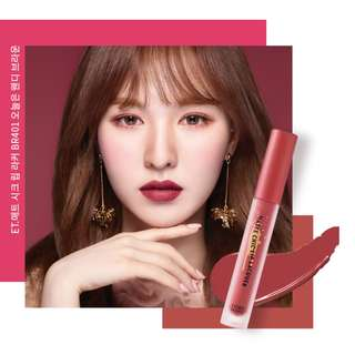 (preorder)red velvet etude house matte chic lip laquer wendy