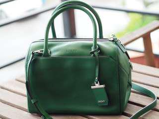 DKNY Green Boston Bag