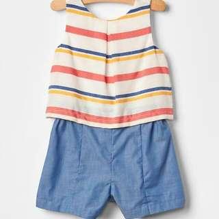 Baby gat Romper stripes blue