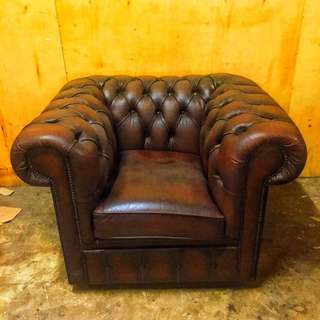 1 Seater Chesterfield Brown (Used)