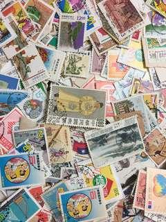 🚚 台灣郵票,舊票1000張