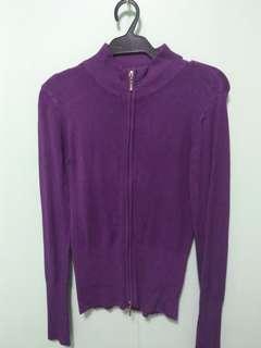 Purple Knitted Jacket