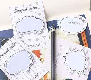 Chat Bubble Message Box Simplistic Shape Sticky Adhesive