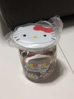 Sanrio characters Hello Kitty glass container
