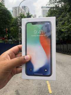 IPHONE X NEW SET LL SET SEALED BOX
