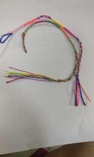 彩色手繩兩條
