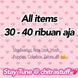 CLEARANCE SALE!! ALL ITEMS 30-40K!! PRELOVED BRANDED 💖