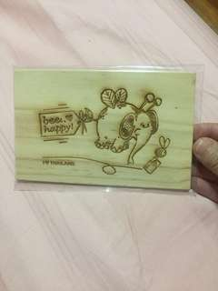 Carved Wooden postcard