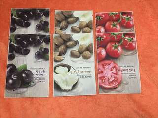 ‼️6 for ₱100‼️Nature Republic Real Nature Mask Sheet