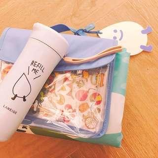 (野餐之選)Laneige 野餐墊及水樽(連DIY 貼紙)