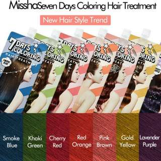 🚚 MISSHA KOREA 7 DAYS HAIRDYE
