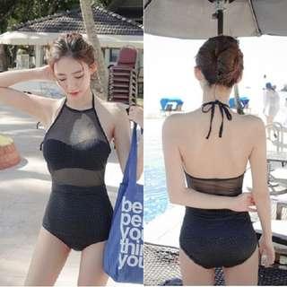 [Pre-Loved] Korean Polka Dots Swimsuit/Monokini