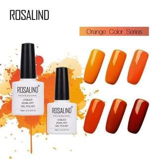 🚚 Orange Series Nail Gel LED UV 7ml