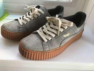 Puma Fenty grey suede shoes