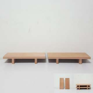 [For Rent] 2 Short Brown Benches Cupcake Stand DIYM006