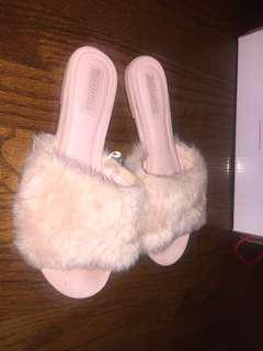 Pink furry slides