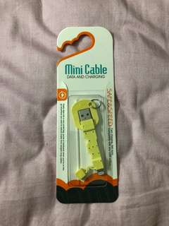 迷你輕便鎖匙扣款iPhone USB充電線mini cable